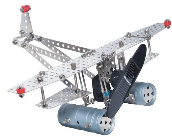 Metallbaukasten mit Solarzelle und Motor