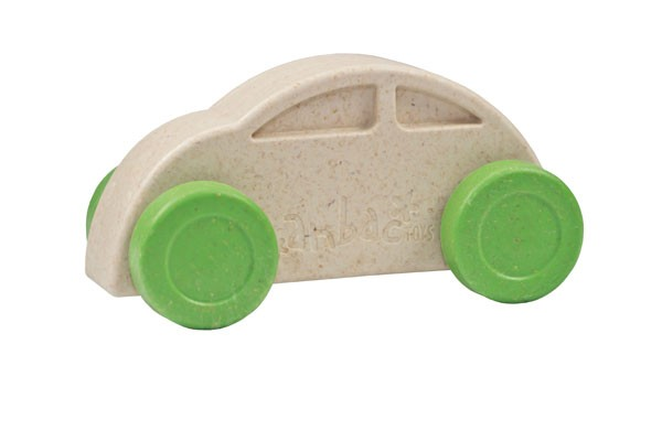 Anbac-Auto-Chassis weiß/Räder grün