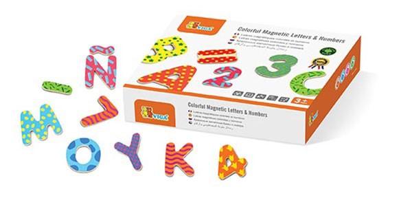 BUNTE magnetische Buchstaben & Zahlen