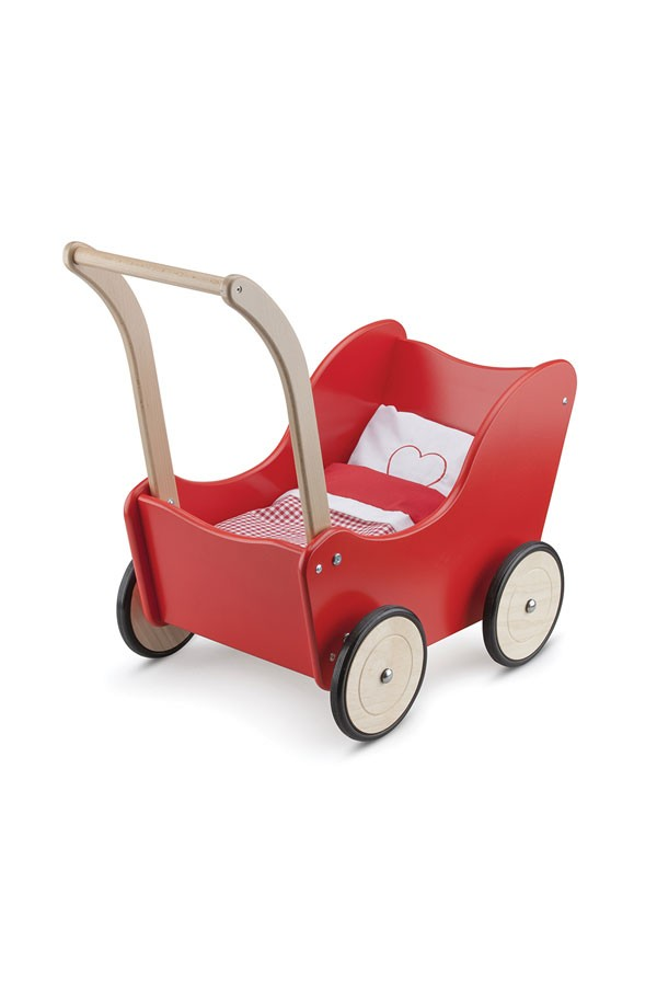 Puppenwagen-ROT-inklusive Bettgarnitur