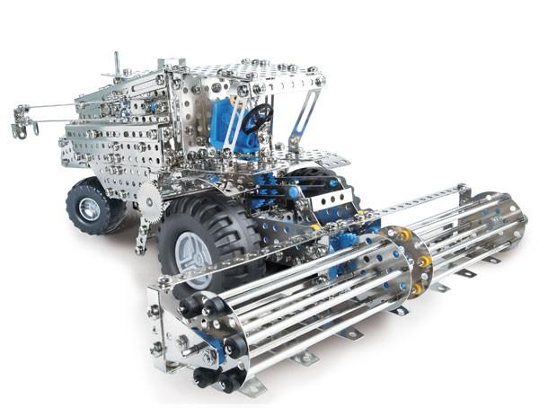 Mähdrescher/Traktor+Anhänger