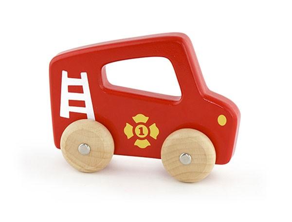 Holzauto Feuerwehr mit Griff