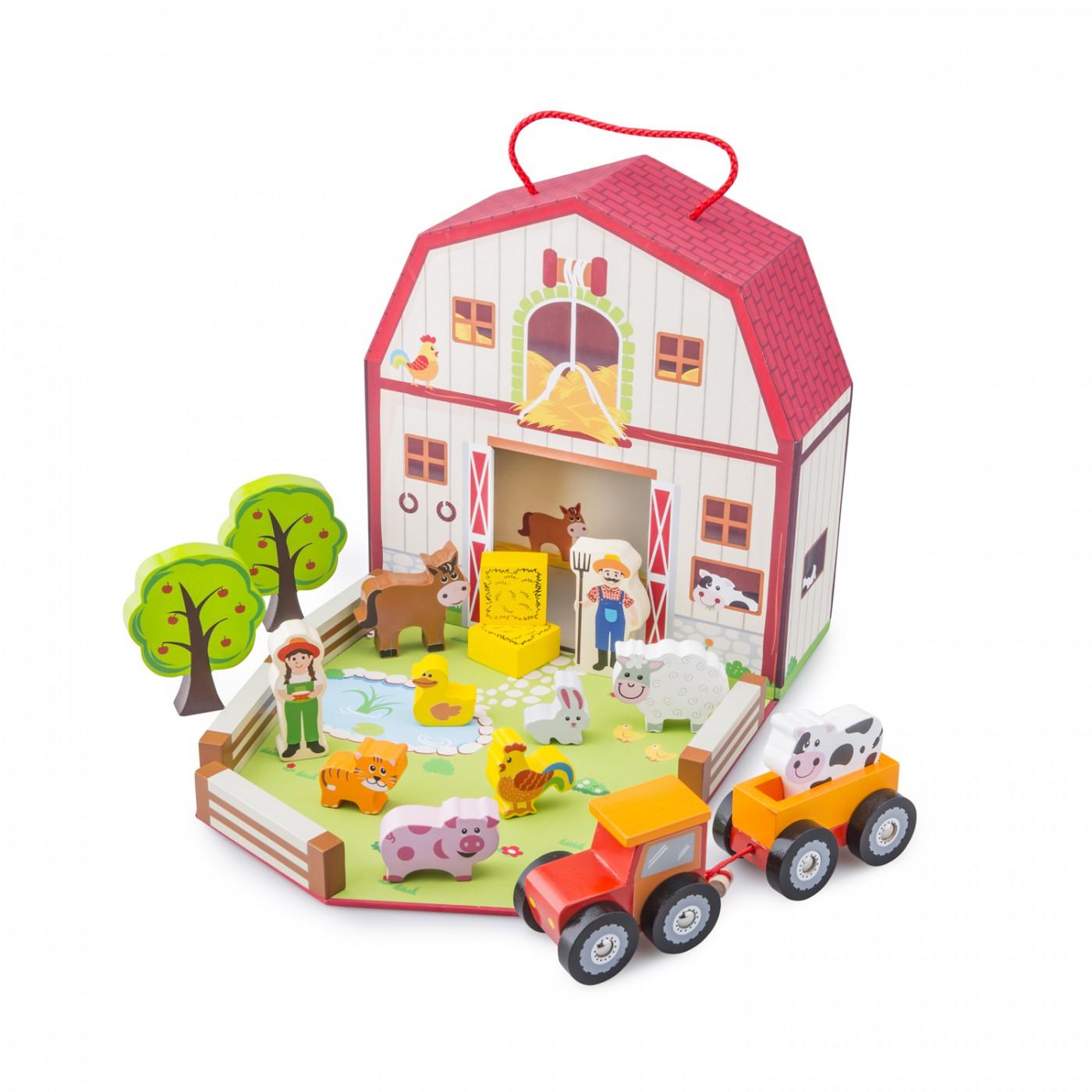 Bauernhof Spiel-Set im Koffer