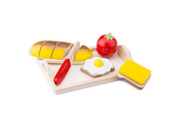 Brot schneiden inklusive Tablett
