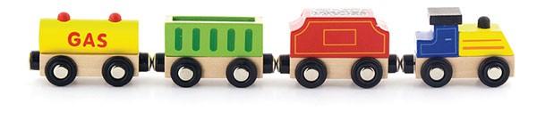 Holzeisenbahn Güterzug