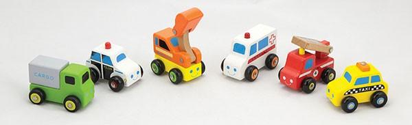 6-teiliges Fahrzeugset