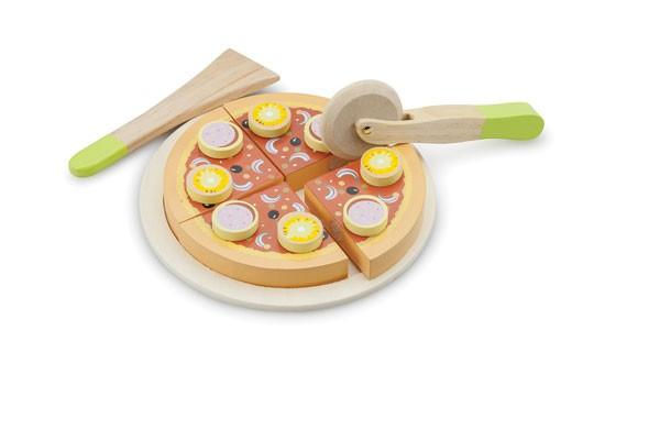 Salamipizza schneiden