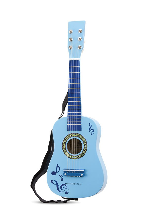 Guitar BLAU mit Noten