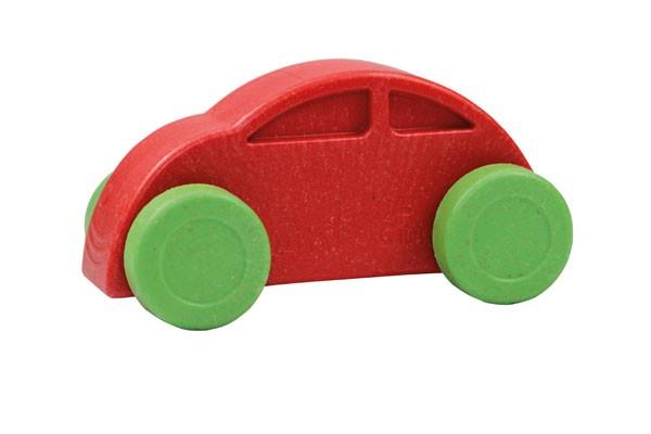 Anbac-Auto-Chassis rot/Räder grün