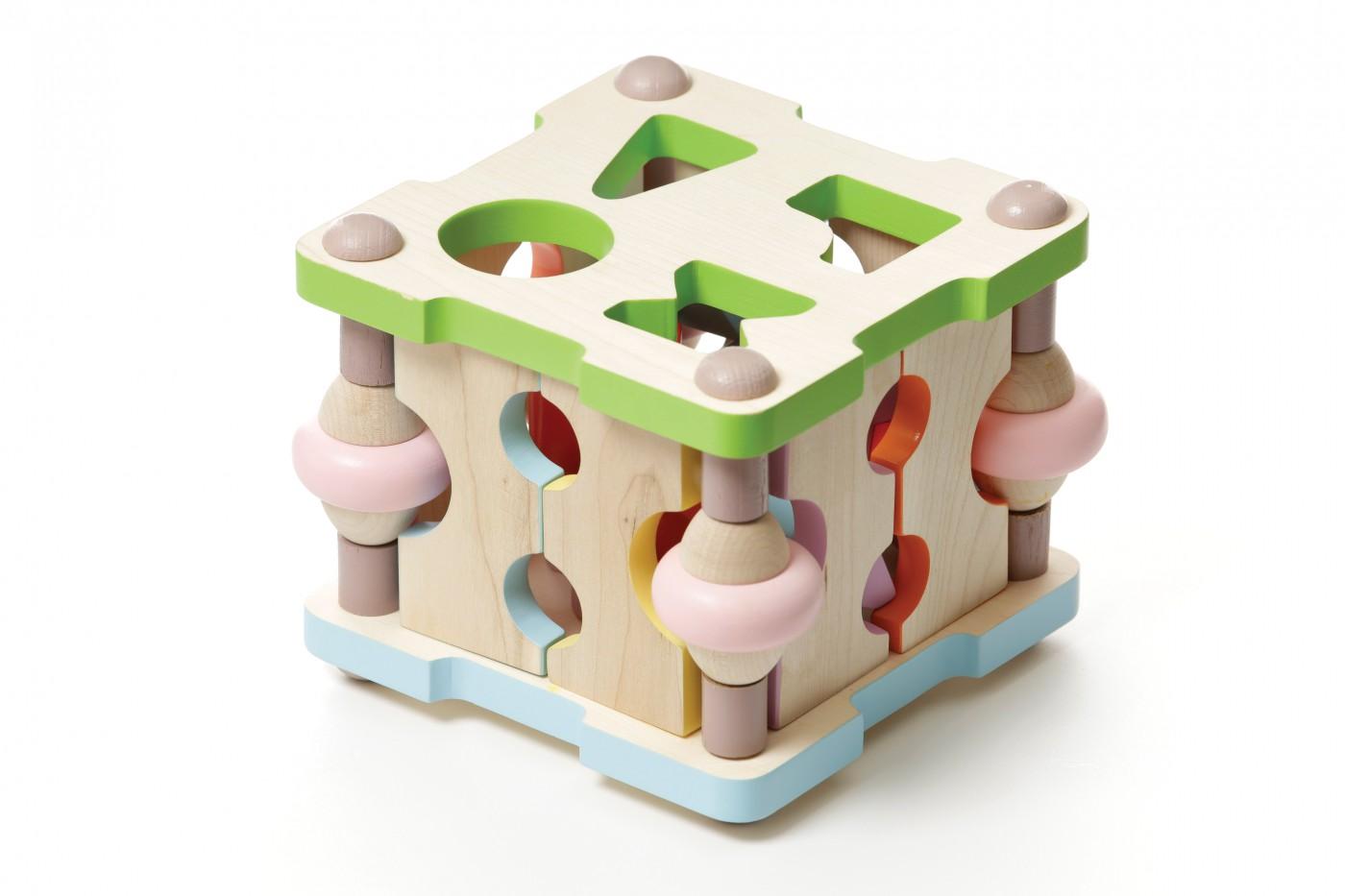 Formensteckspiel - Würfel LS-4, natur