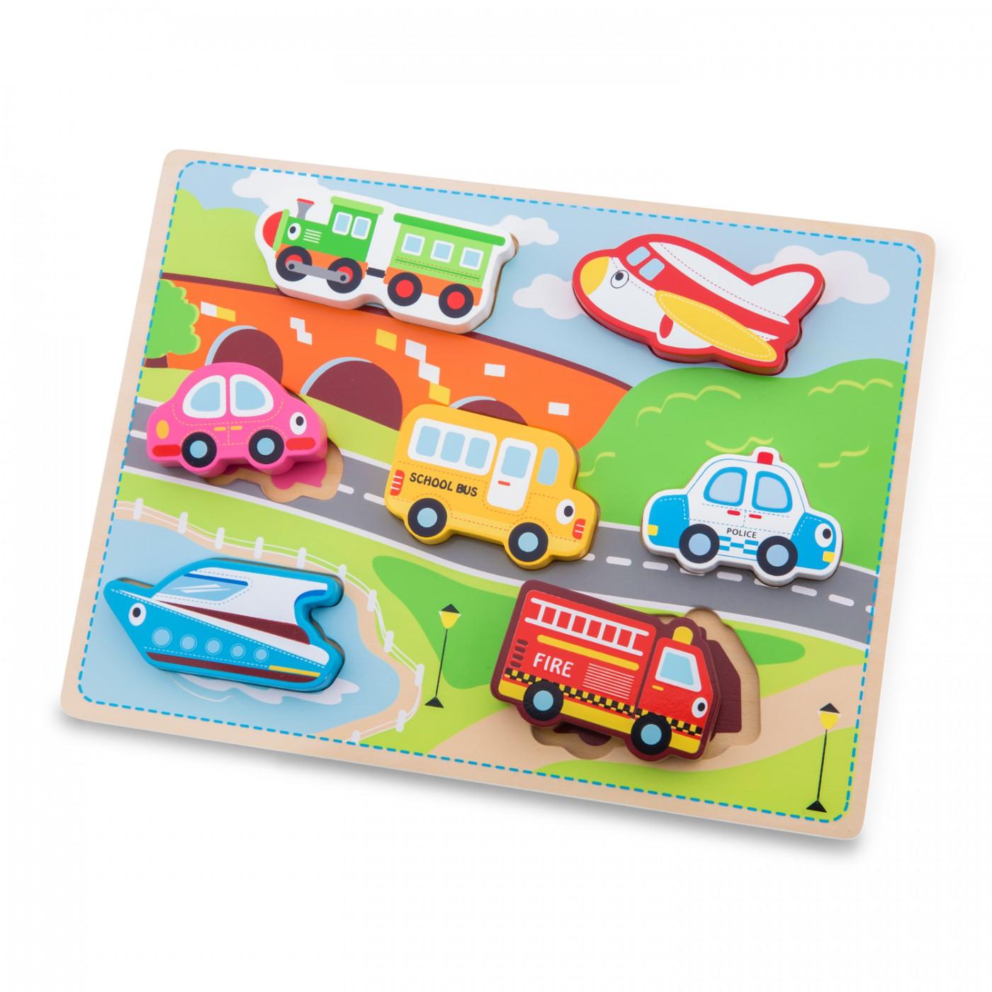 Fahrzeugpuzzle mit großen Teilen