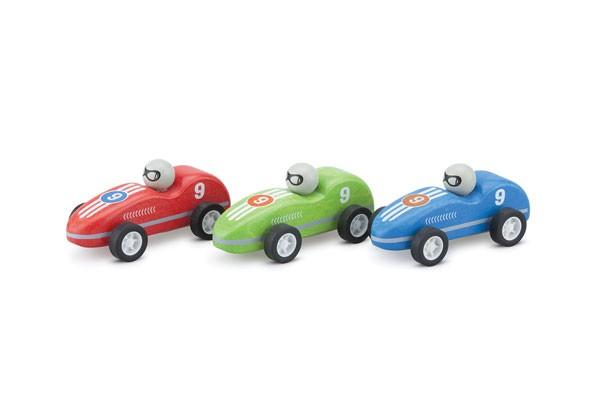 3-teiliges Rennwagen-Set mit Rückzug