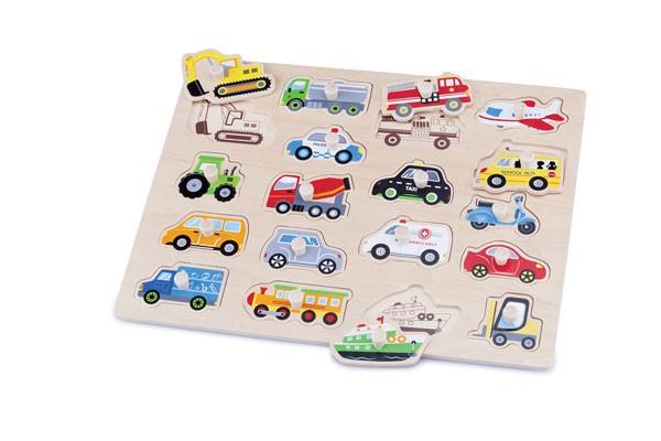 Steckpuzzle Fahrzeuge