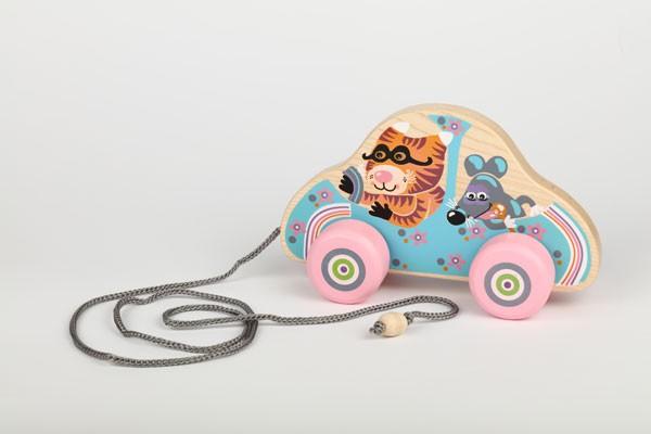 Ziehspiel- Auto Katz' & Maus kreatives Design LK-5