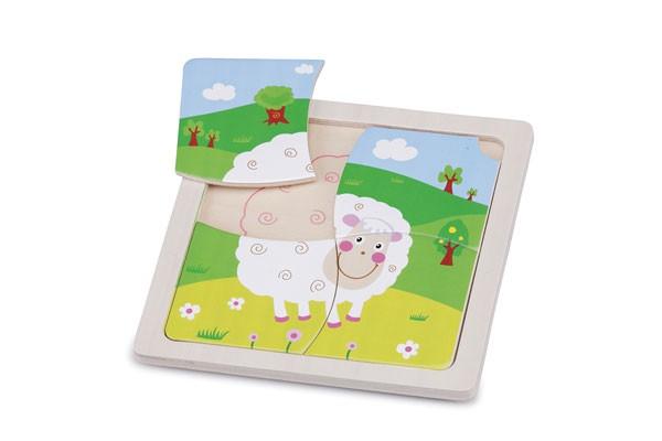 Mini Puzzle-Schaf