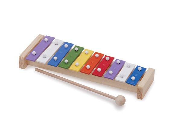 Musikinstrumente 10 Töne bunt New Classic Toys 10215 Metallophon