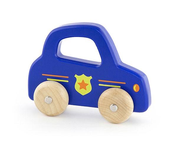 Holzauto Polizei mit Griff