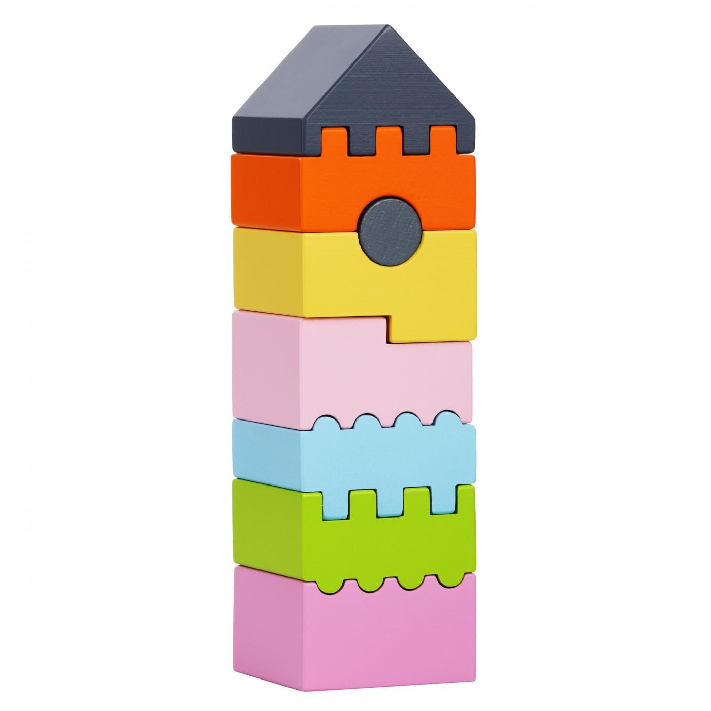 Motoriksteckspiel - Turm bunt LD-3