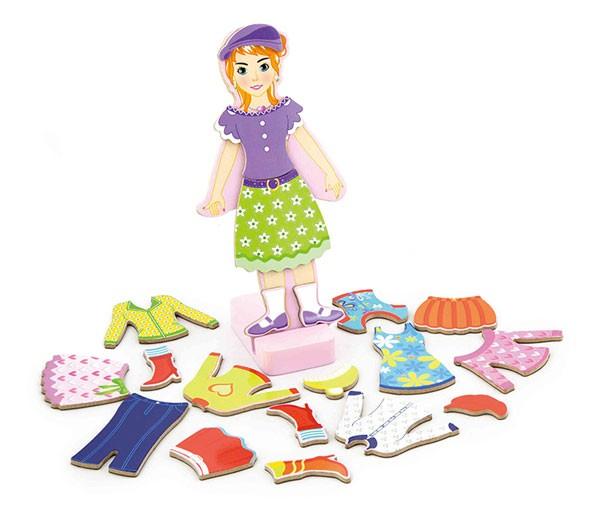 Magnet-Ankleidespiel Mädchen