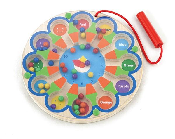 Magnetspiel Uhr & Farben