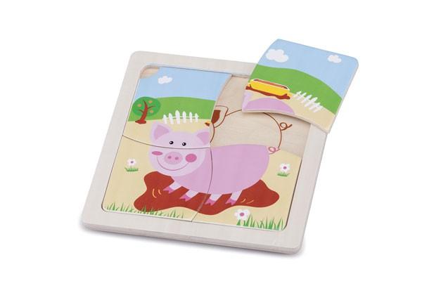 Mini Puzzle-Schwein