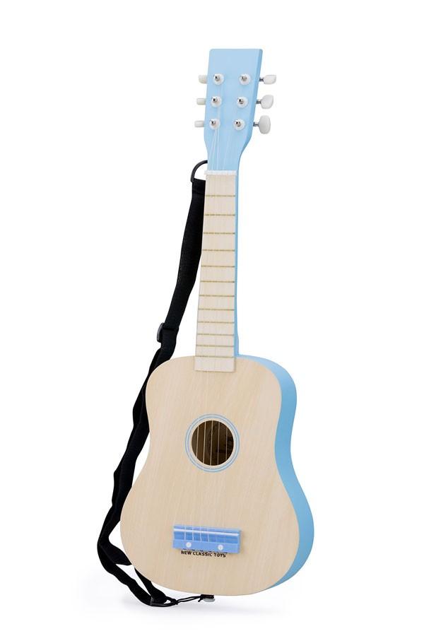 Gitarre NATUR/BLAU