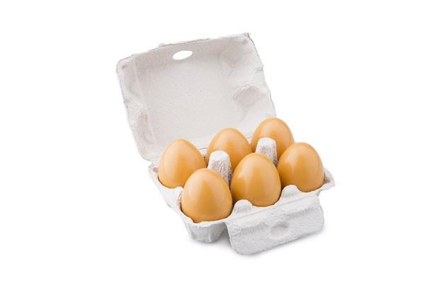 Holz-Eier 6 Stück