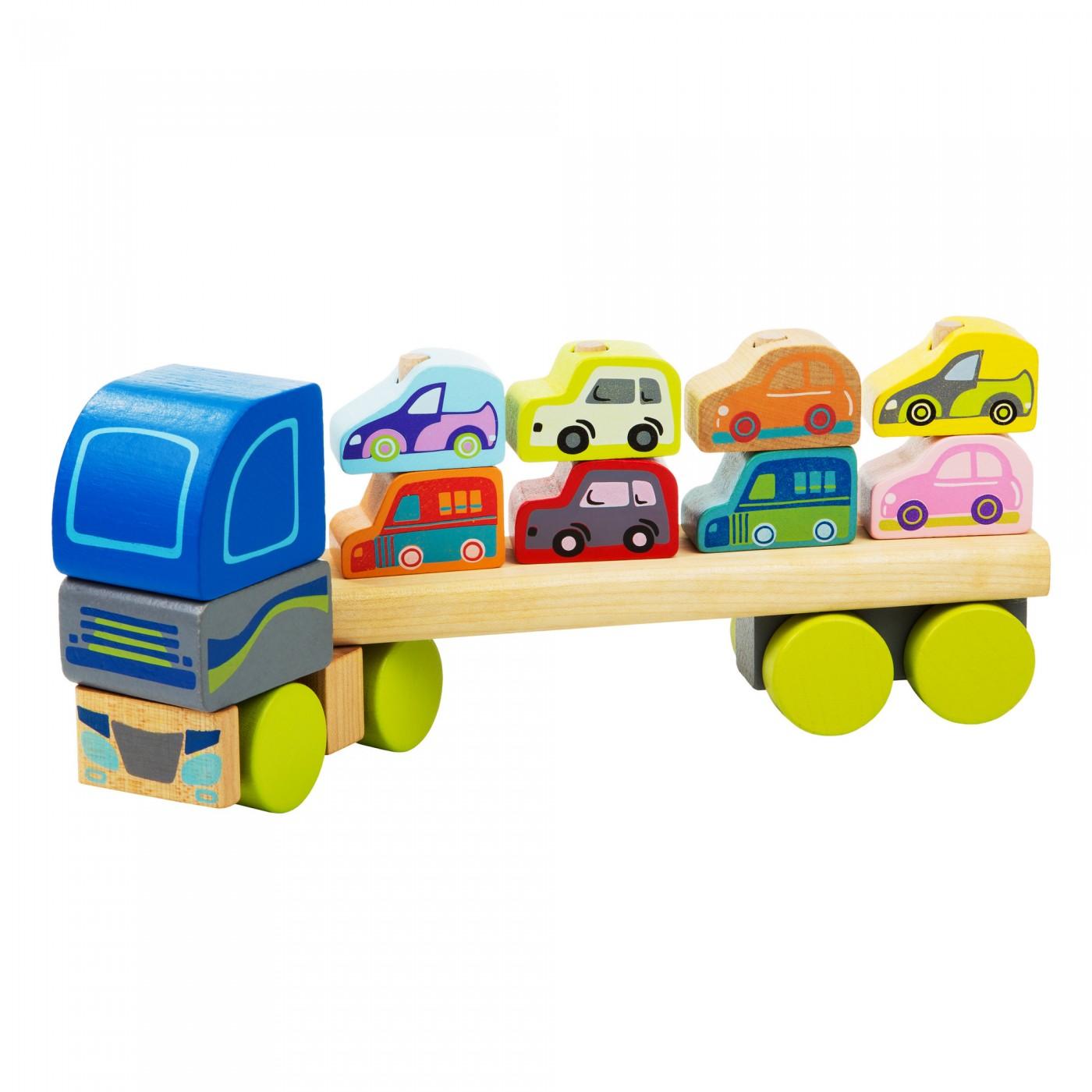 Steckspiel - Autotransporter