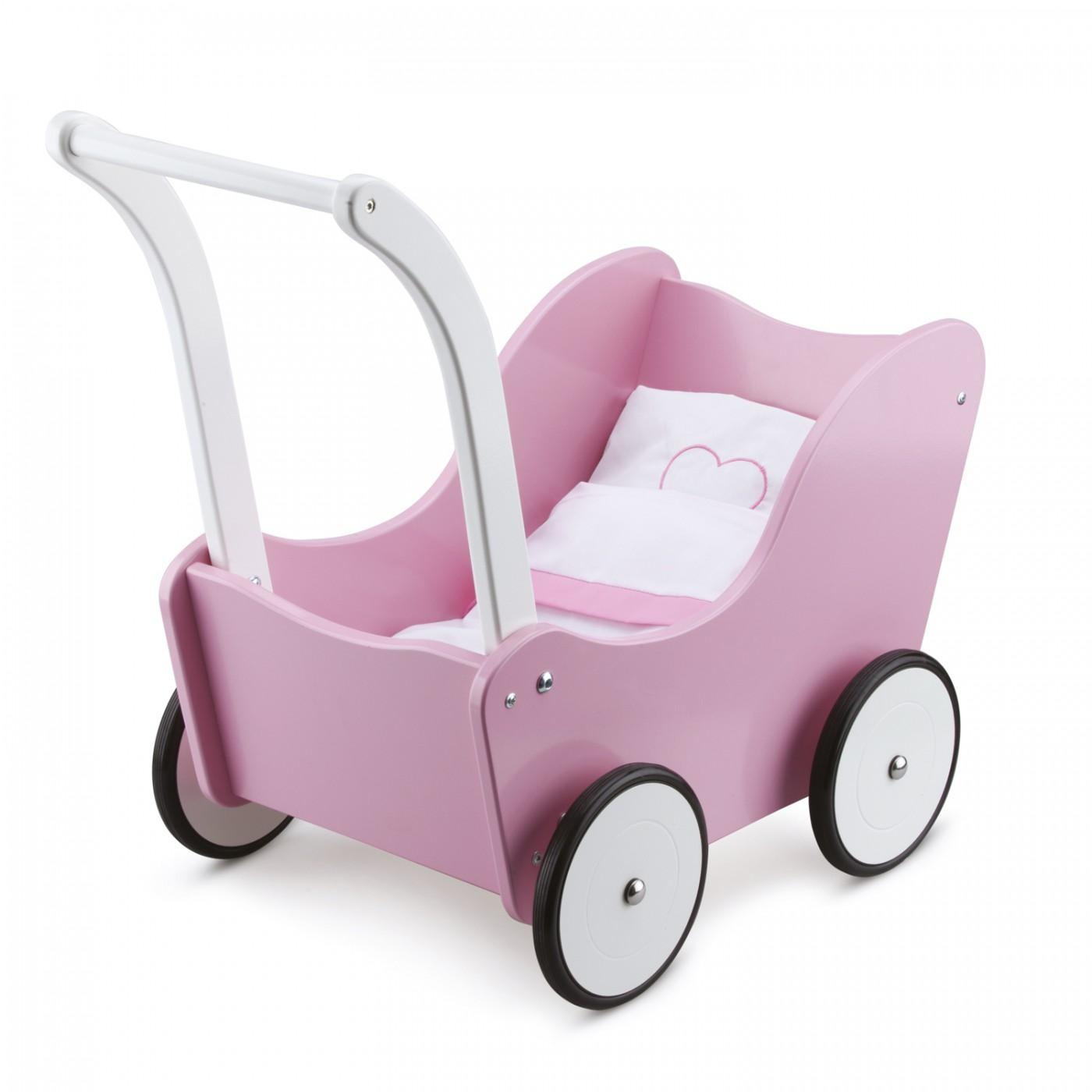 Puppenwagen-PINK-inklusive Bettgarnitur