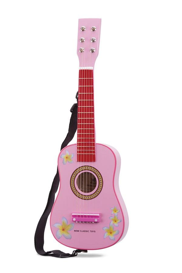 Guitar PINK mit Blumen