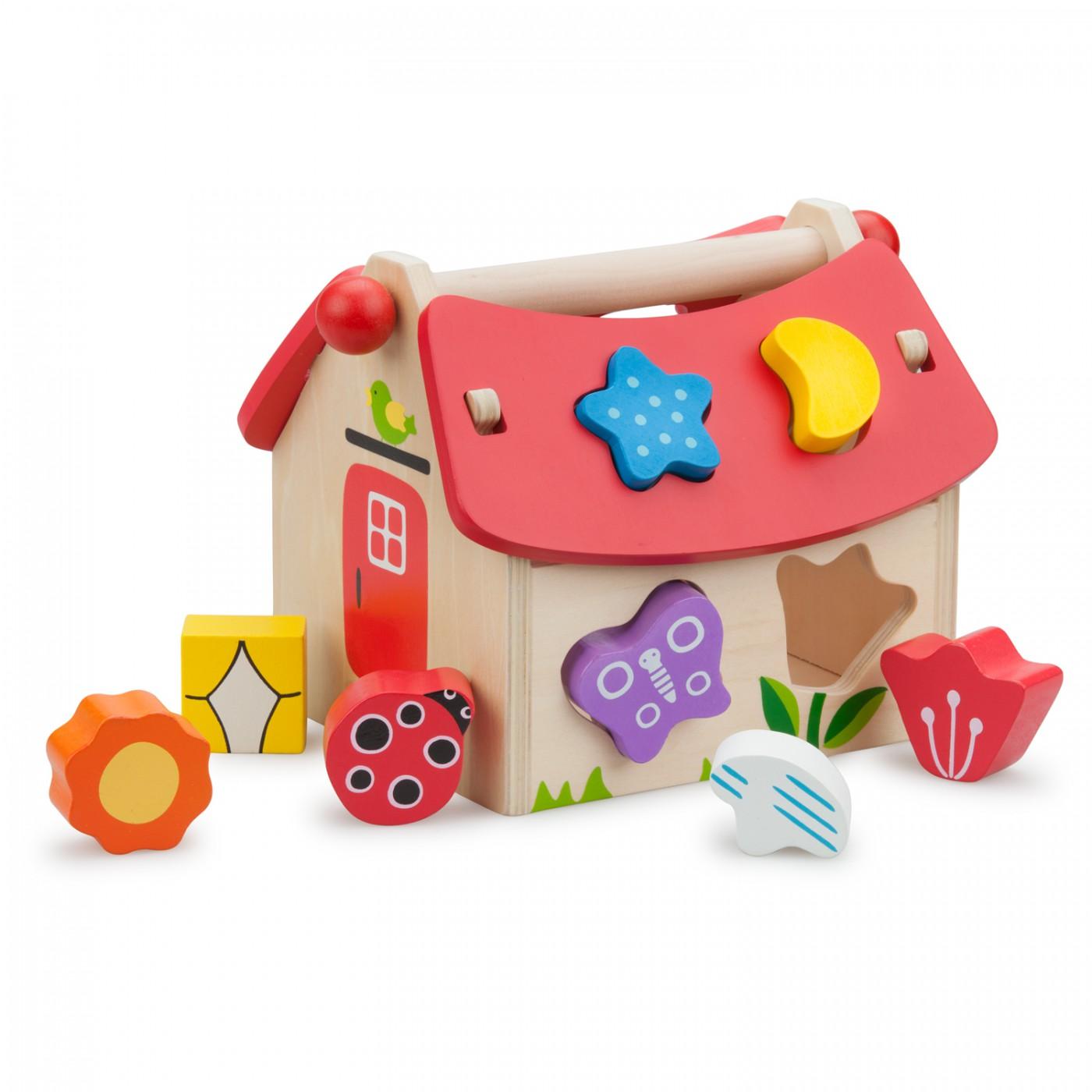 Sortierspiel-Haus-8 Steine