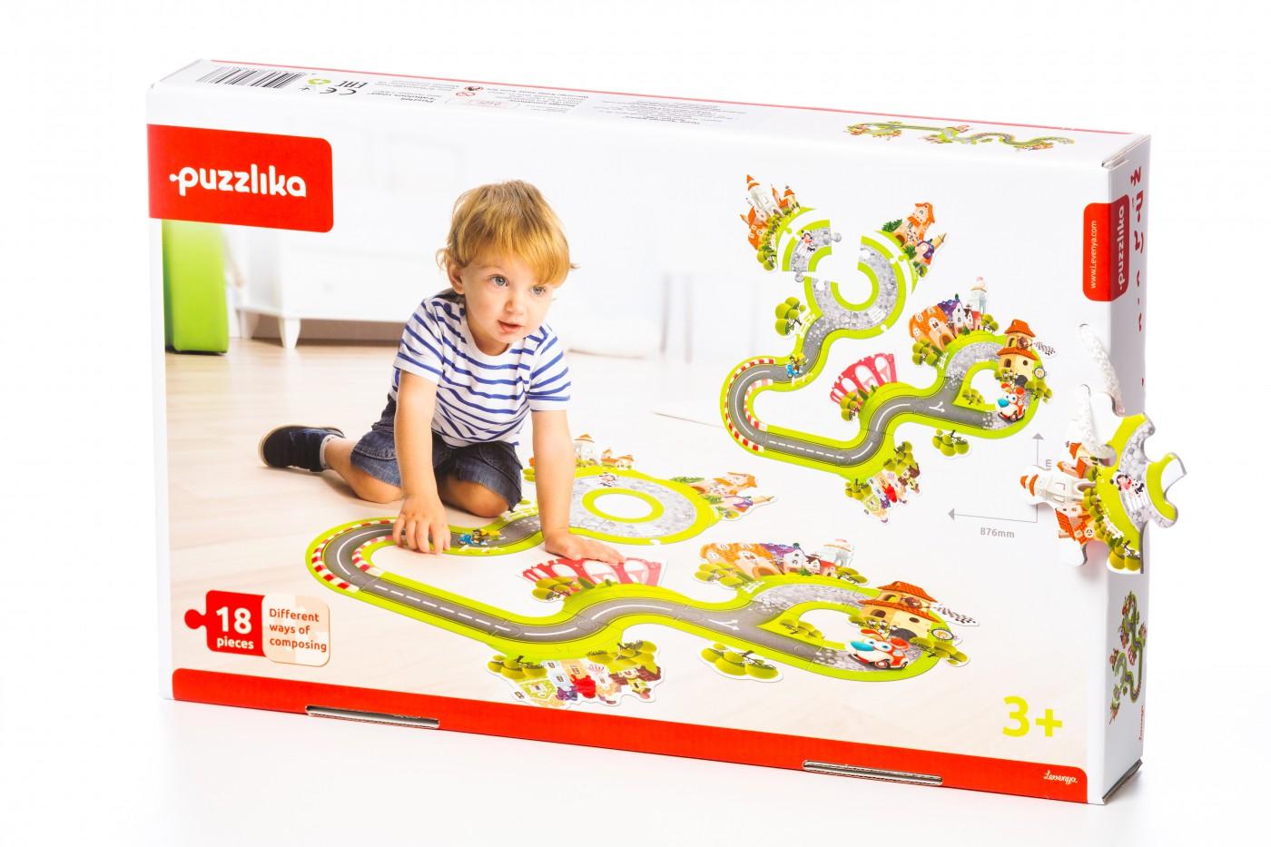 "puzzlika - ""Fabelhafte Straße"", 18 tlg. Puzzle"