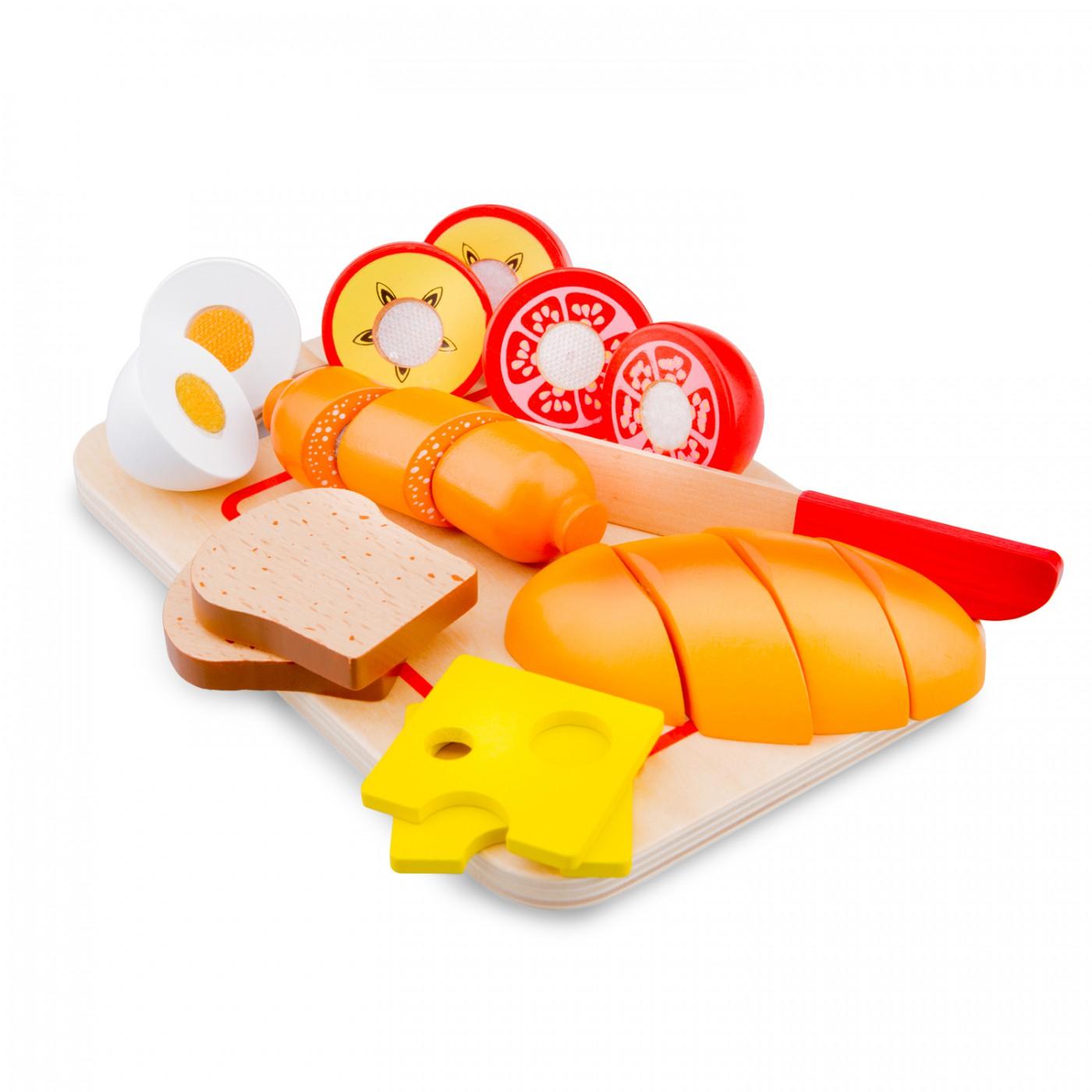 Schneide-Set Frühstück mit Brettchen