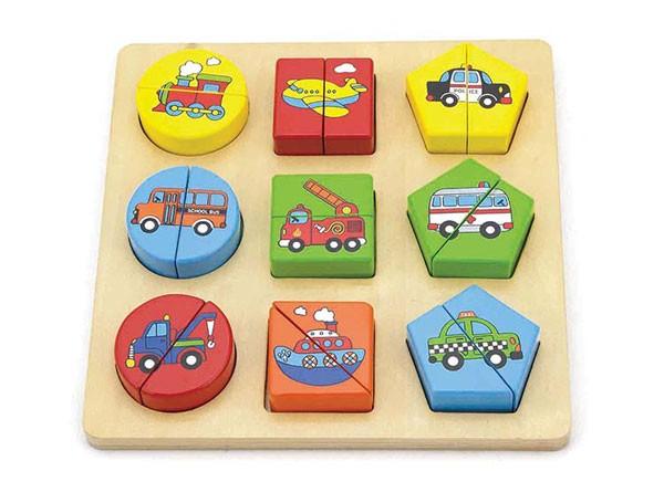 Holz-Formen-Puzzle Fahrzeuge