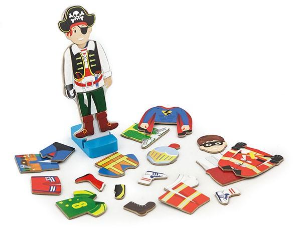Magnet-Ankleidespiel Junge