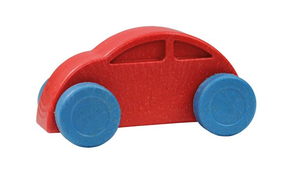 Anbac-Auto-Chassis rot/Räder blau